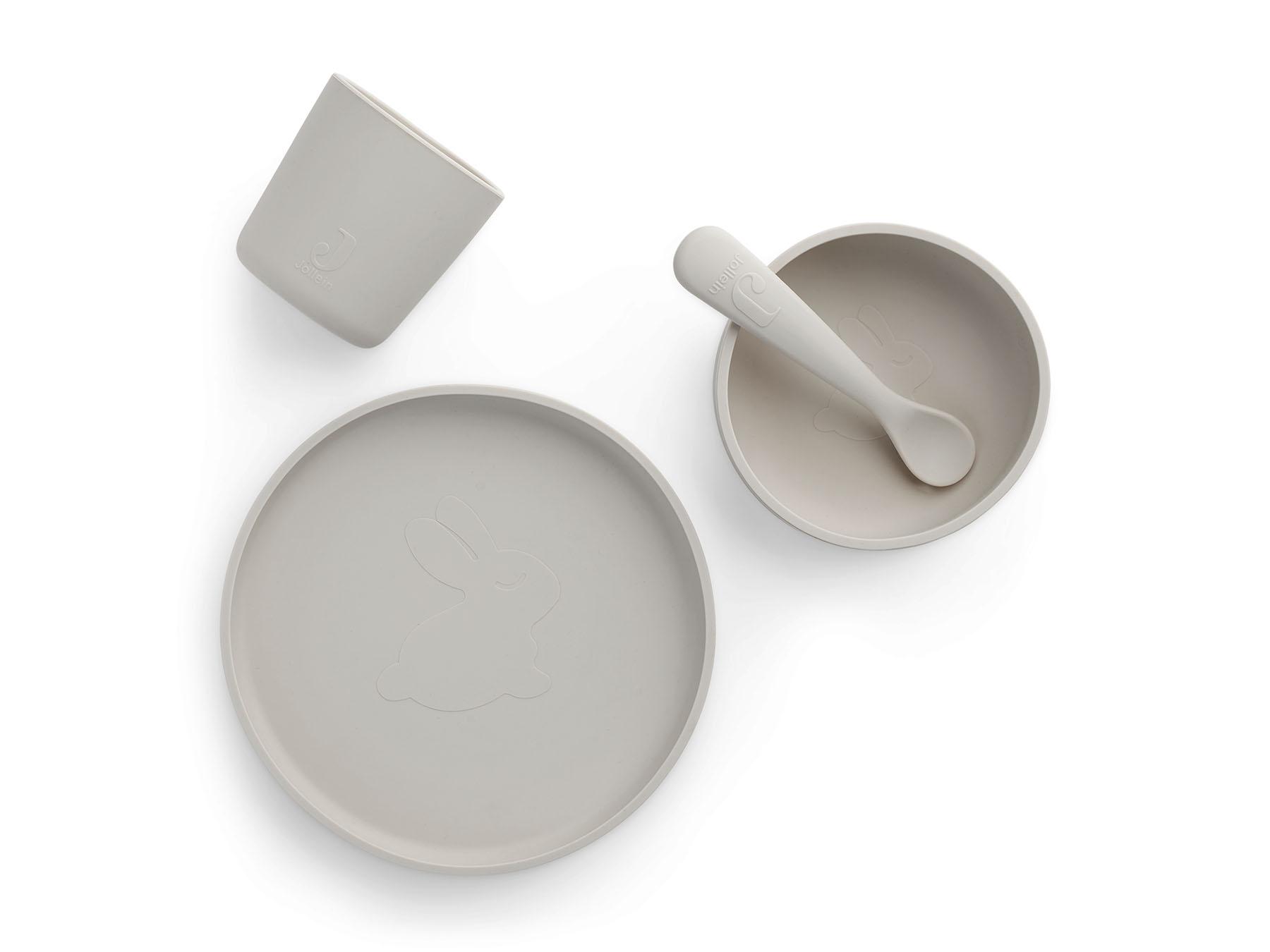 Afbeelding Jollein siliconen eetset I Nougat