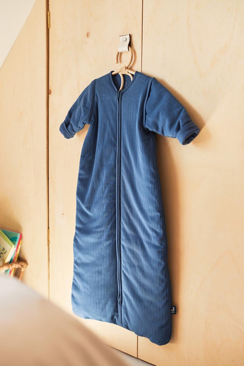Afbeelding Jollein slaapzak 90cm Basic Stripe I Jeans Blue