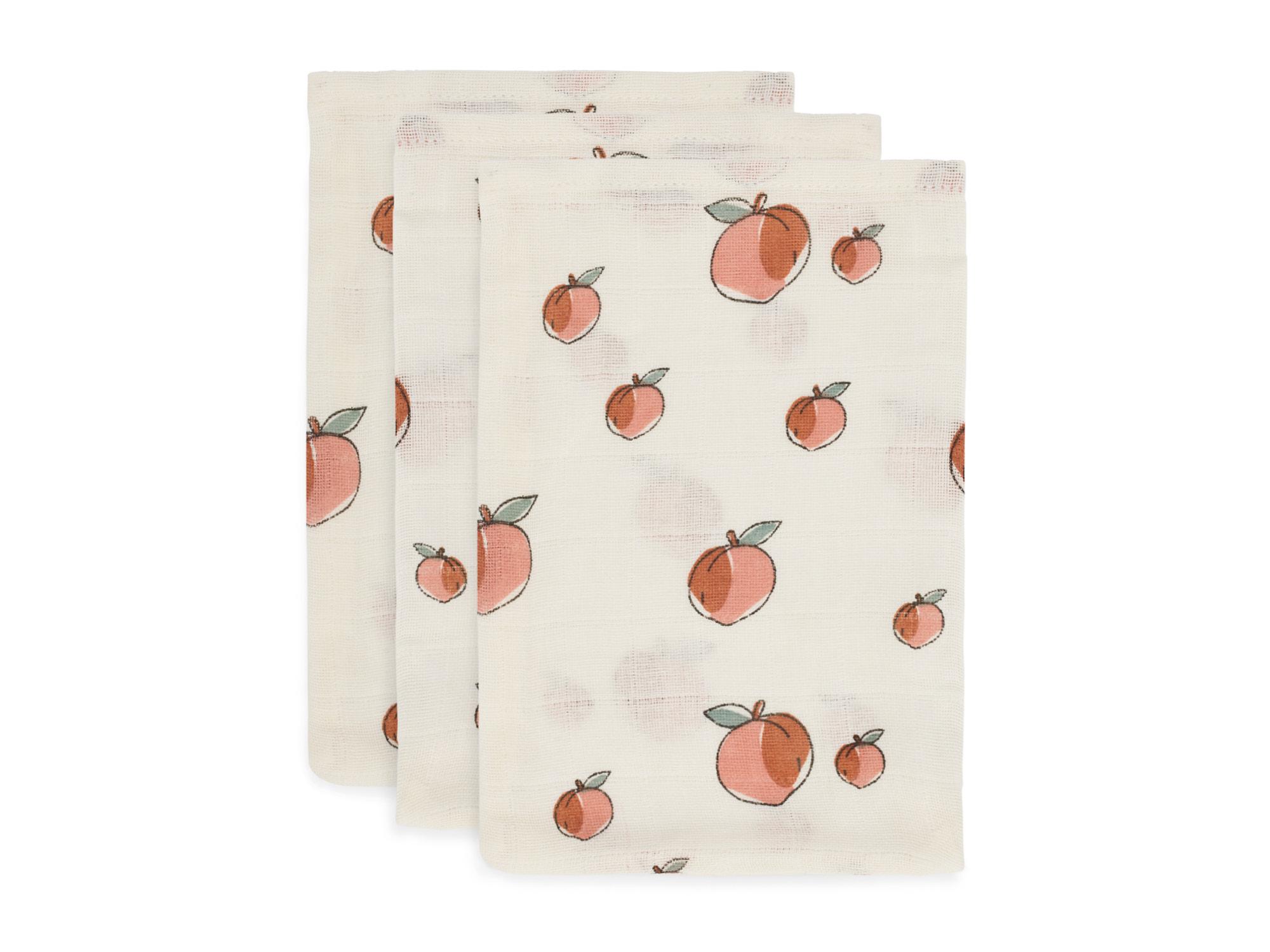 Afbeelding Jollein Washandje hydrofiel I Peach (3pack)