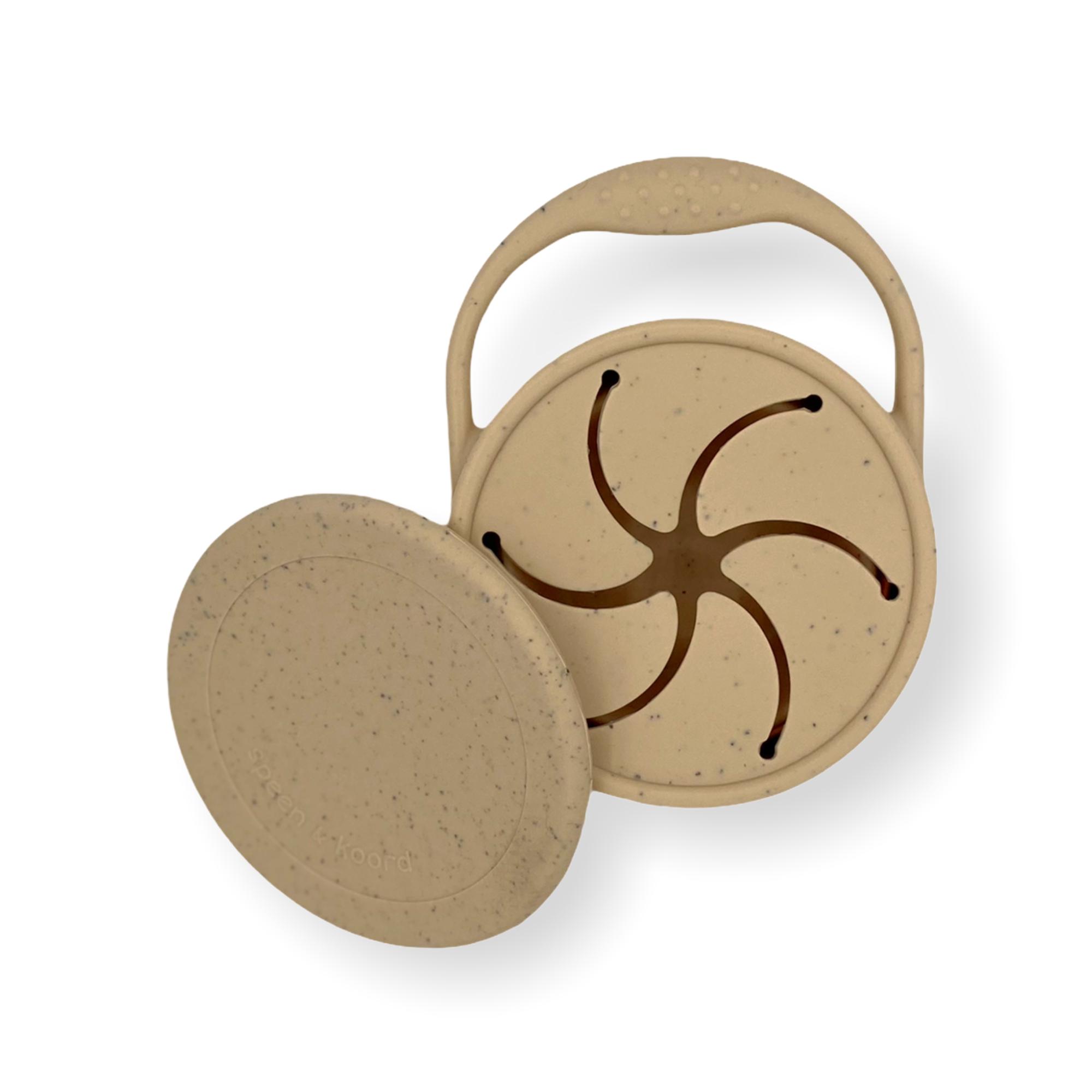 Afbeelding Speen & Koord Snack cups I Speckled Sand