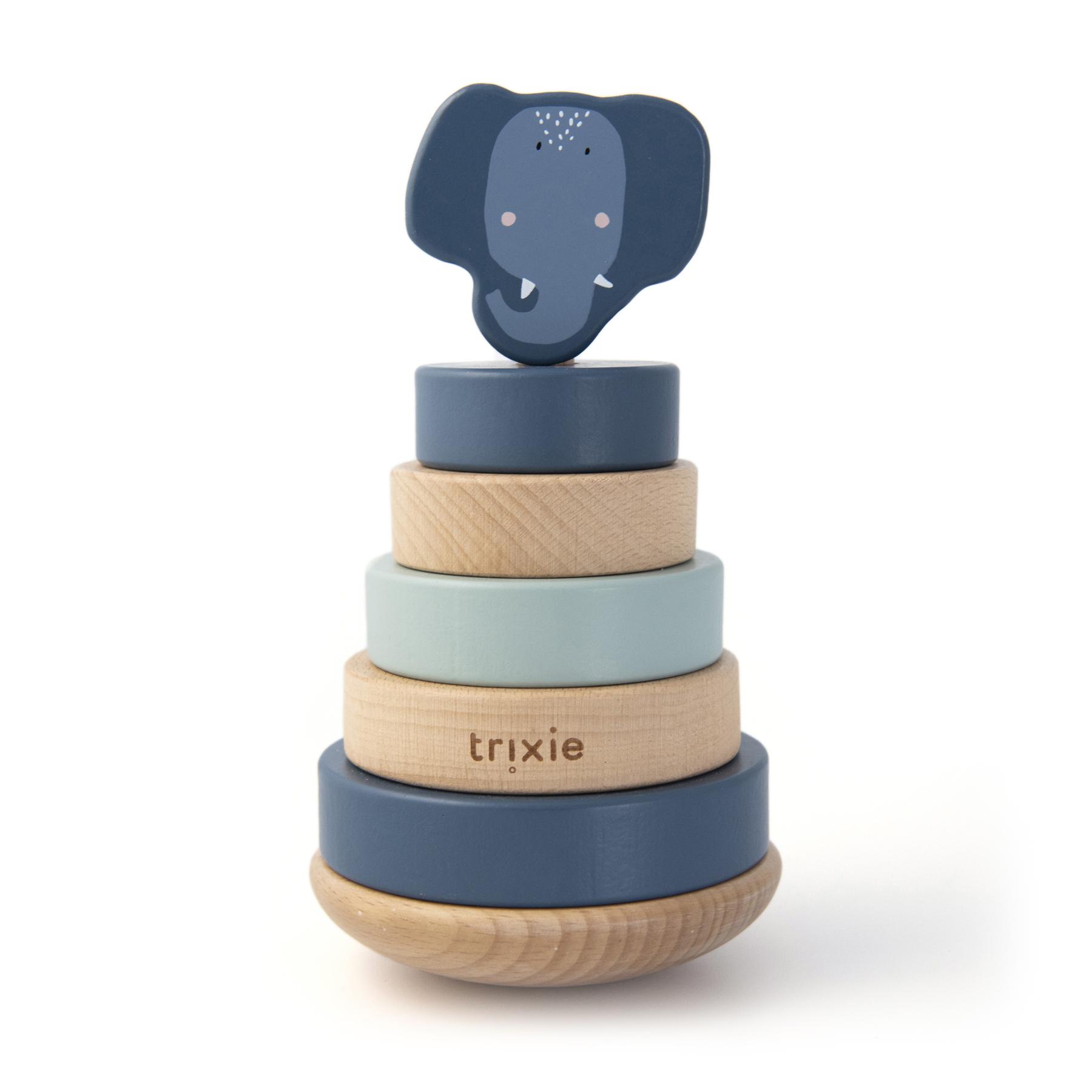 Afbeelding Trixie Houten Stapeltoren I Mrs. Elephant